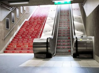 coca-cola-vs-diet-coca-cola-stair-guerrilla-marketing